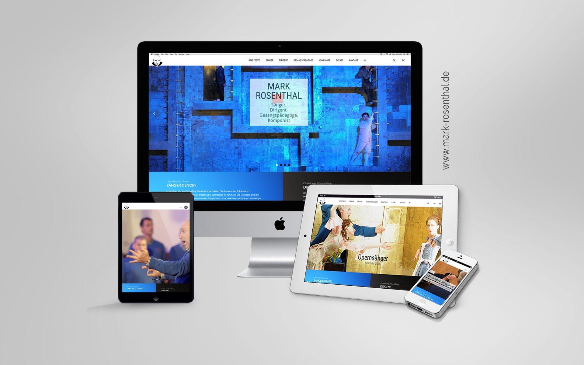Webdesign Mockup Mark Rosenthal