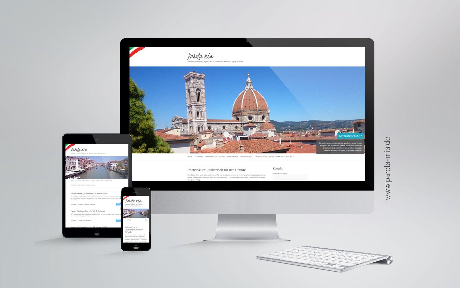 Webdesign Mockup parola-mia