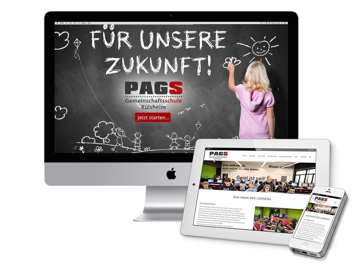 Moderne Schulwebsite - PAGS Gemeinschaftsschule